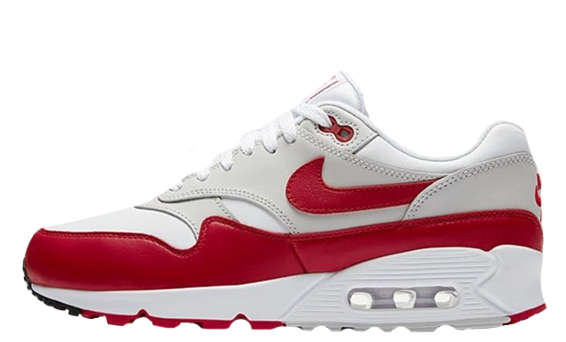 Nike Air Max 90 1 White Red Womens AQ1273-100