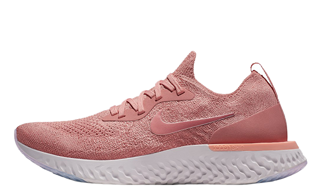 new product bc984 868a0 Nike Epic React Flyknit Rust Pink Womens  AQ0070-602