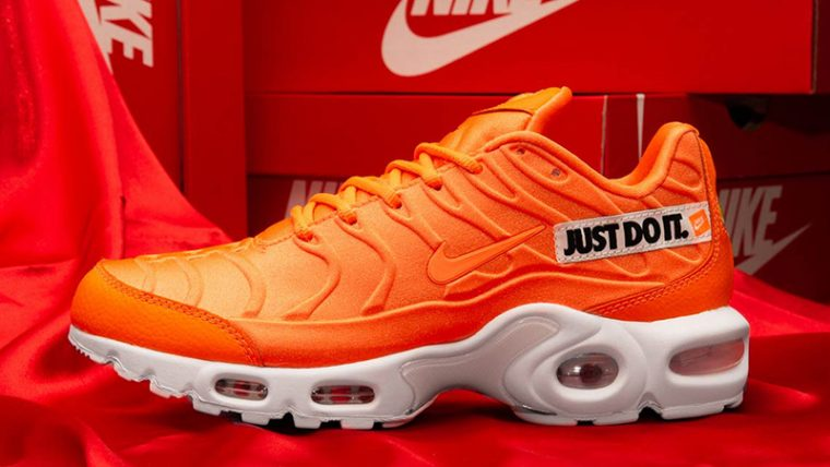 ac9bc5e353 ... Air Max Plus Just Do It Pack Orange, make sure to take note of Nike's  August 2nd release date and stay tuned to our social media pages for more  updates ...