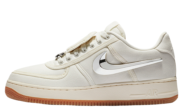 new images of best online exclusive range Travis Scott x Nike Air Force 1 Low Sail | AQ4211-101