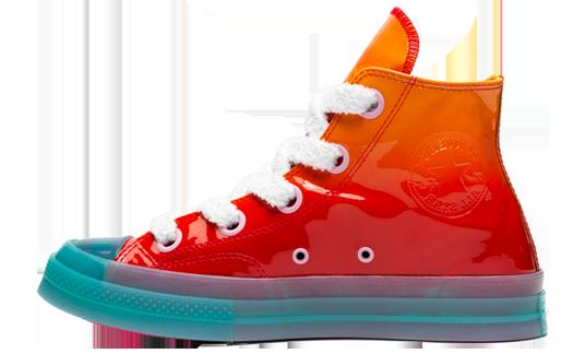 Converse x JW Anderson Patent Leather High Top Orange | 162286C