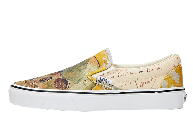 5d4e244177 The Vans Classic Slip-On Vincent van Gogh Skull White will be launching on  August 3rd. Make sure to click the bell icon on this page for reminders and  stay ...