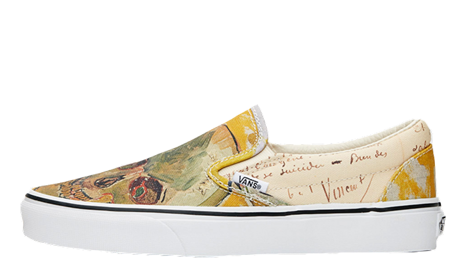 Vans Classic Slip On Vincent Van Gogh Skull White Where To Buy Va38f7u48 The Sole Womens