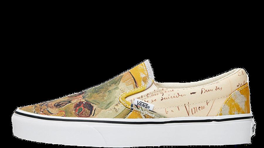 Vans Classic Slip On Vincent Van Gogh Skull White Where To Buy Va38f7u48 The Sole Womens