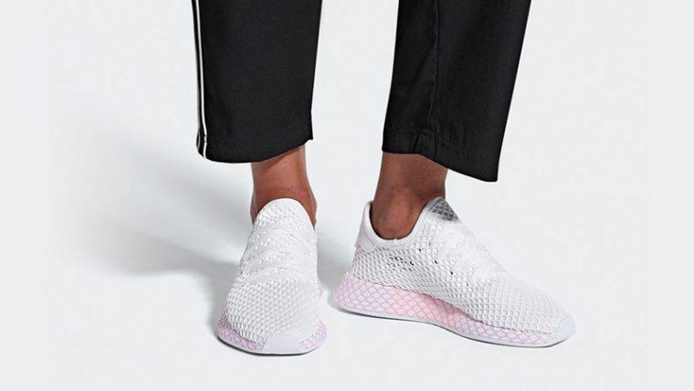 adidas Deerupt White Pink Womens B37601 04 thumbnail image