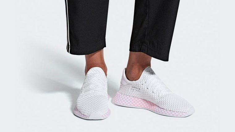 acc246858f124 adidas Deerupt White Pink Womens B37601 04
