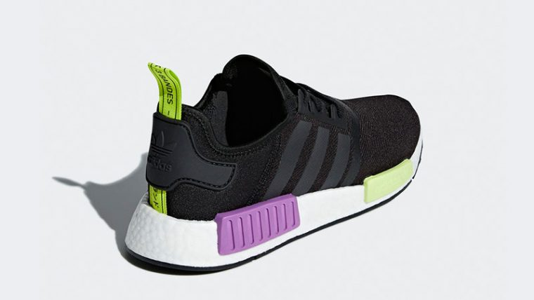 uk availability d9b97 2ee82 adidas NMD R1 Black Purple Shot   D96627