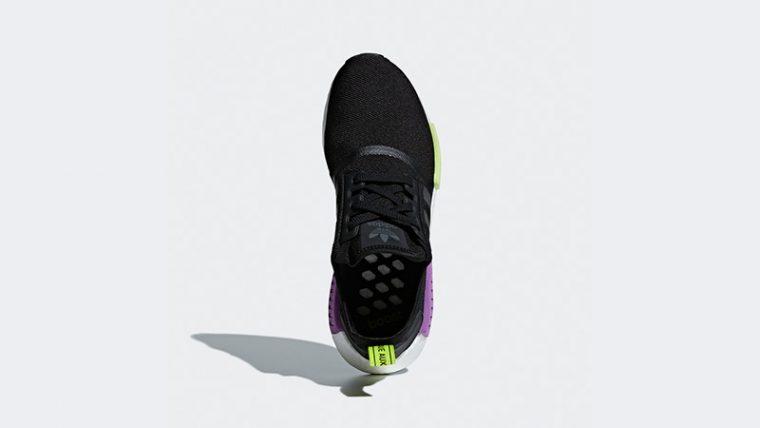 low priced cf16c fe822 adidas NMD R1 Black Purple Shot | D96627