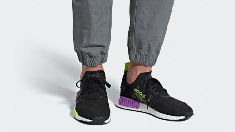 adidas NMD R1 Black Purple Shot | D96627 thumbnail image