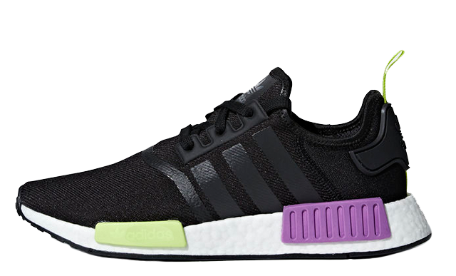 best service c158f 1ee9f adidas NMD R1 Black Purple Shot  D96627