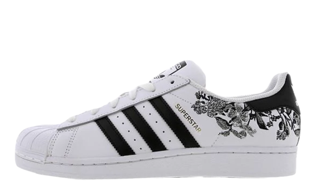 adidas Superstar Flower Embroidery White