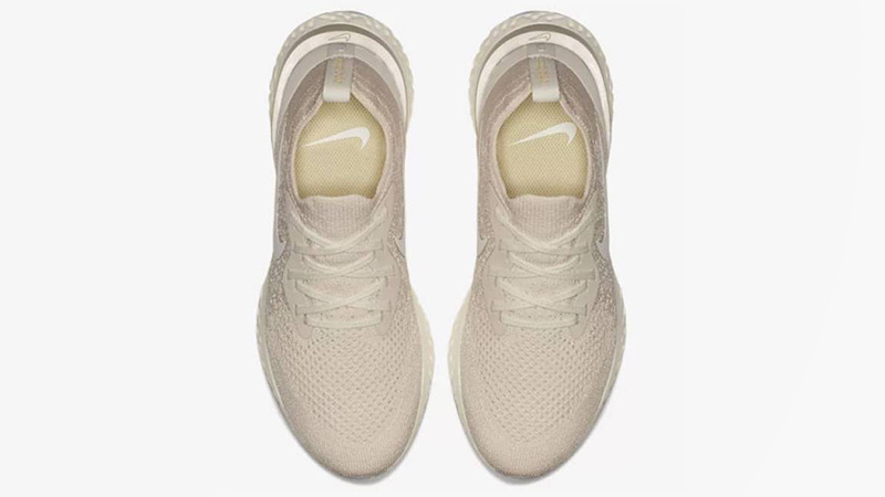 Nike Epic React Flyknit Cream Womens | AQ0070-201