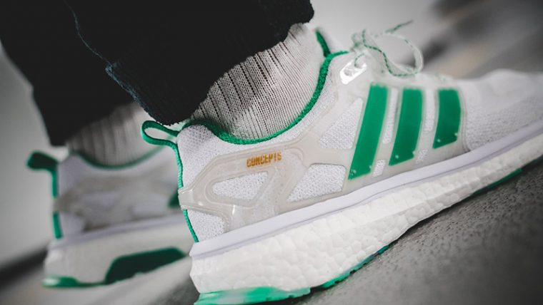 official photos a9341 78dac Concepts x adidas Consortium Energy Boost Shiatsu White Green  BC0236
