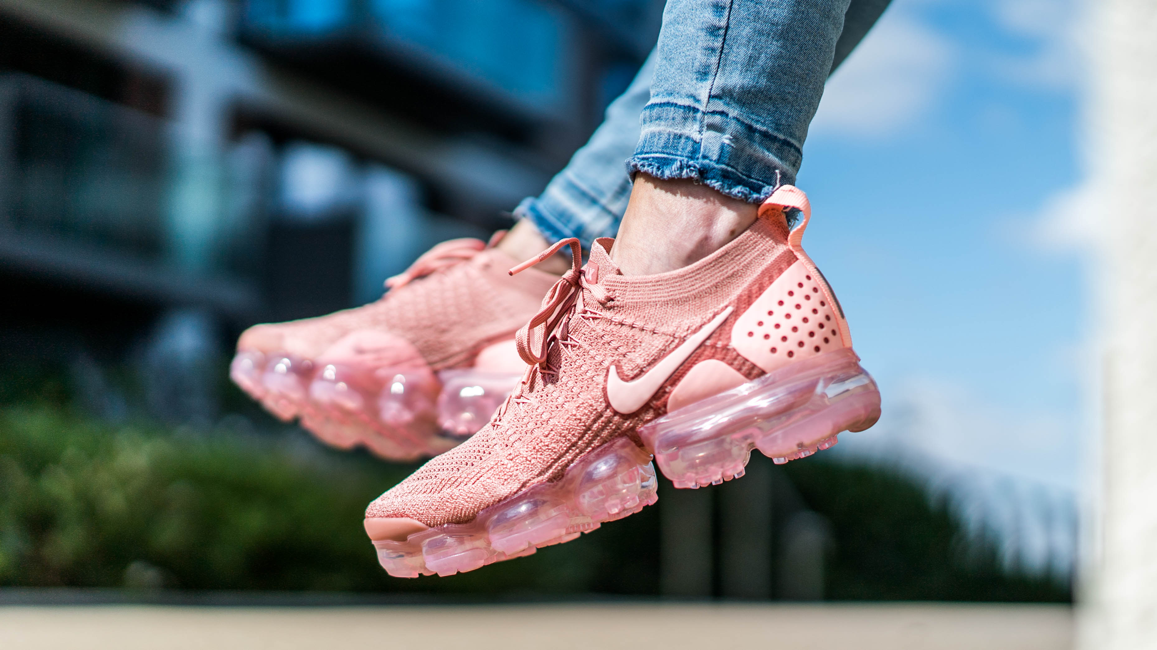 bfdc483c355 An Exclusive On Foot Look At The Nike Air VaporMax Flyknit 2 In Rust ...