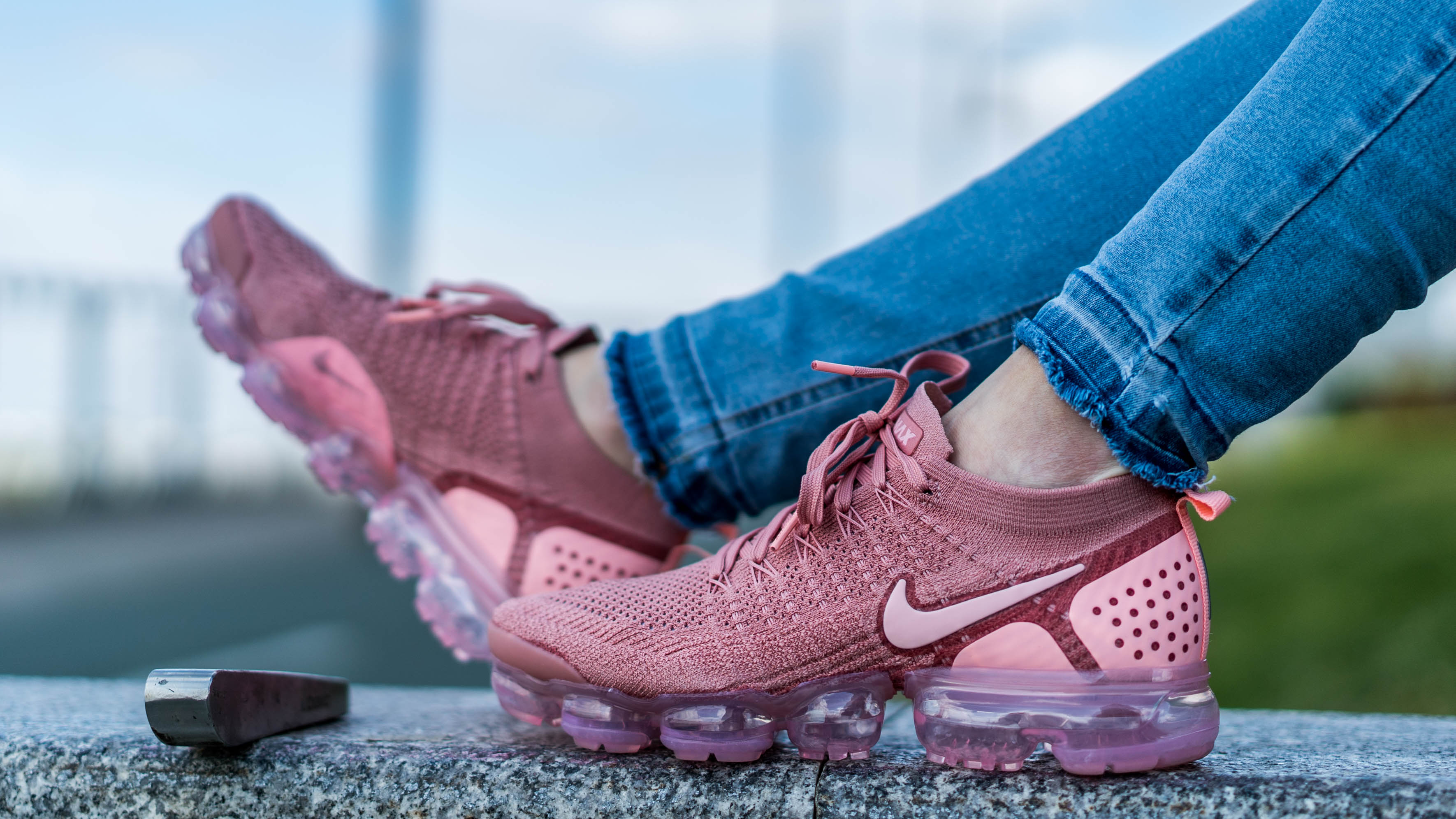 9f8247cbe5b41 An Exclusive On Foot Look At The Nike Air VaporMax Flyknit 2 In Rust ...