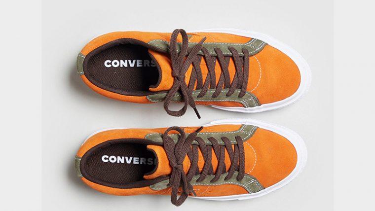 Converse One Star Orange Womens 161617C 02 thumbnail image