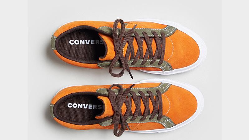 Converse One Star Orange Womens 161617C 02