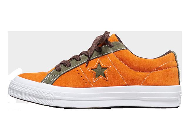Converse One Star Orange Womens 161617C