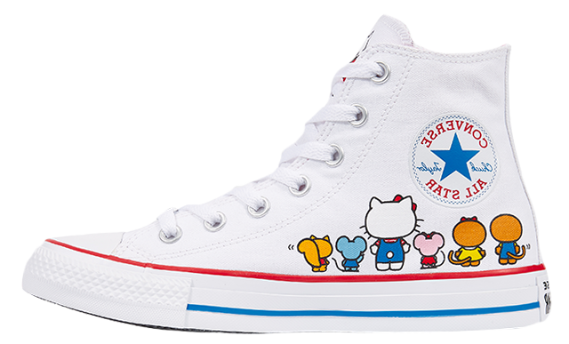 58088167a0c9d0 The Converse x Hello Kitty Chuck Taylor All Star Hi White is available to  buy now via our list of stockists on this page. Make sure to stay tuned to  our ...
