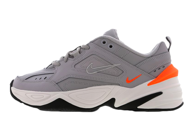 Nike M2k Tekno Grey Orange FootLocker Exclusive