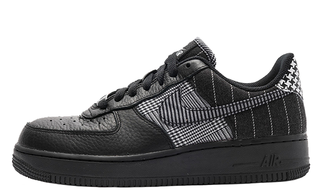 Nike Air Force 1 Black Patchwork Womens AT0062-001
