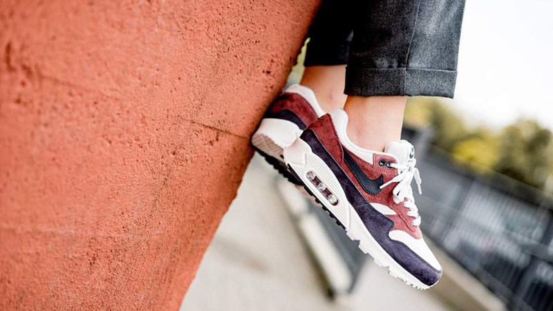 3394a7d8602 Nike Air Max 90 1 Red Sepia Womens AQ1273-200 07