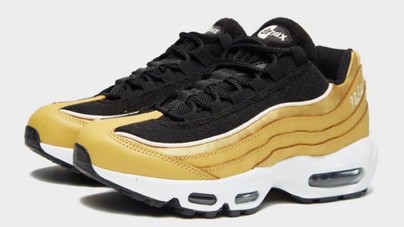a few days away closer at casual shoes Nike Air Max 95 LX Gold Black Womens