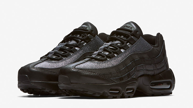 7e8b21dfd2 Nike Air Max 95 SE Glitter Black Womens | AT0068-001 | The Sole Womens