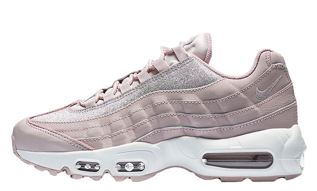 promo code c4d69 db6ea Nike Air Max 95 SE Particle Rose Glitter Womens | AT0068-600