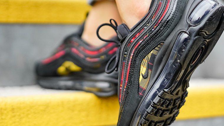 Nike Air Max 97 Tartan Pack Black Womens AV8220-001 01 thumbnail image