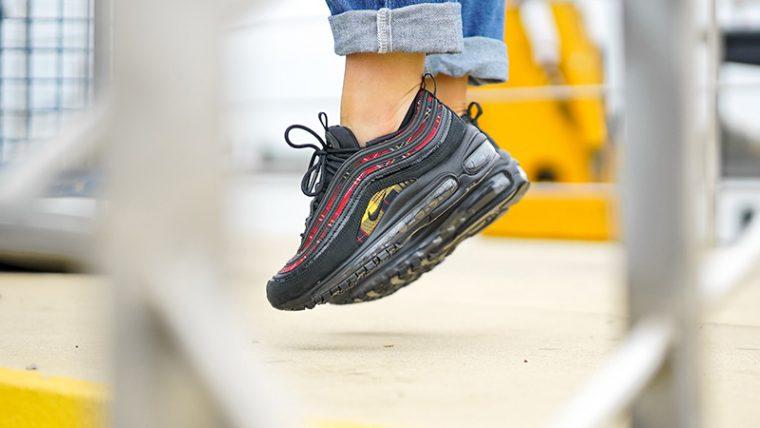 Nike Air Max 97 Tartan Pack Black Womens AV8220-001 02 thumbnail image