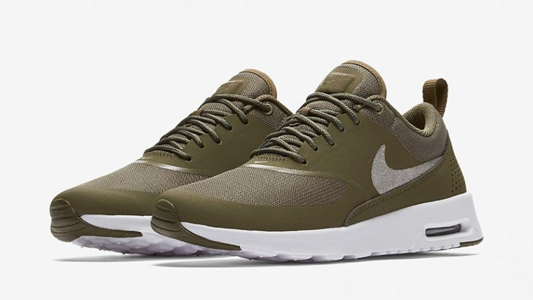nike air max thea olive womens at0067 200 the sole womens. Black Bedroom Furniture Sets. Home Design Ideas