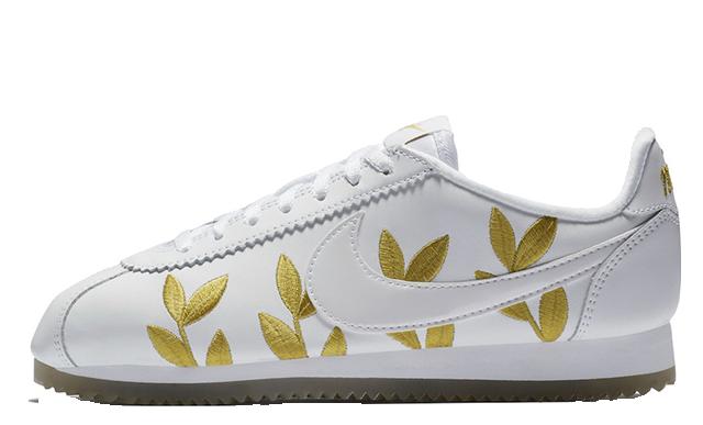Nike Cortez White Gold