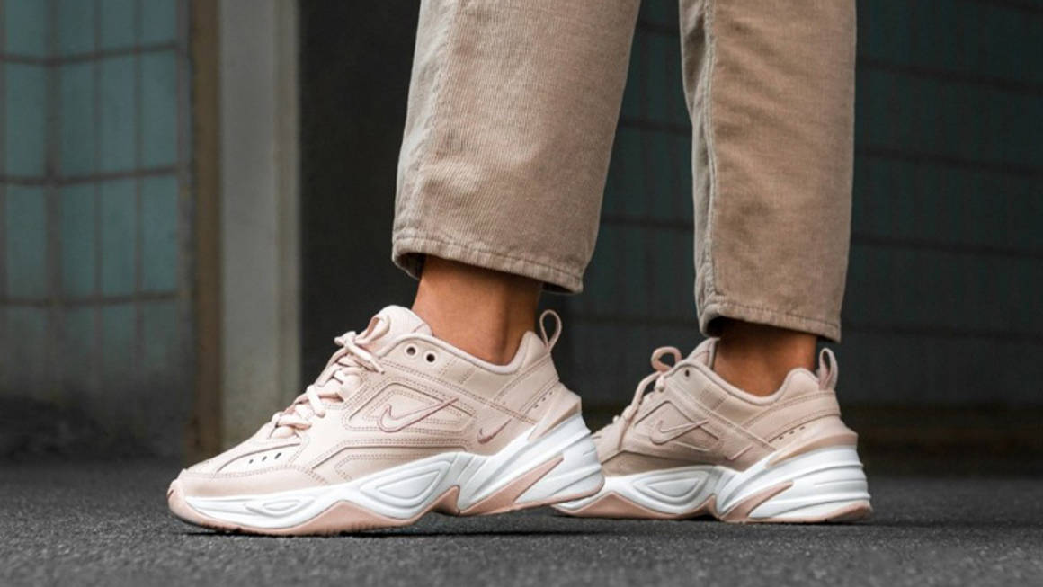 Nike M2K Tekno Particle Beige White On Foot w1160