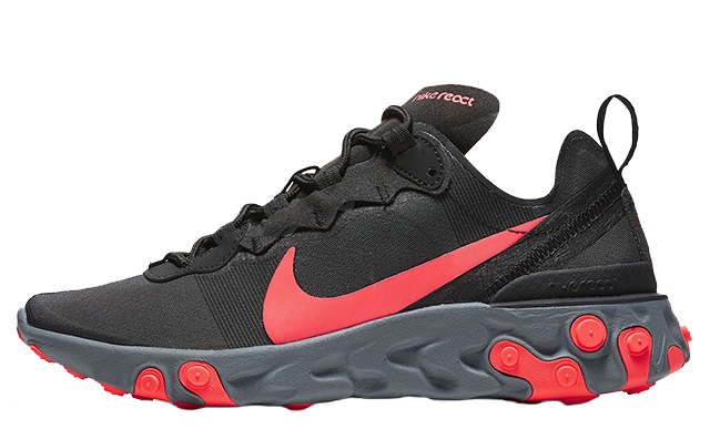 large discount new collection new high quality Nike React Element 55 Black Red