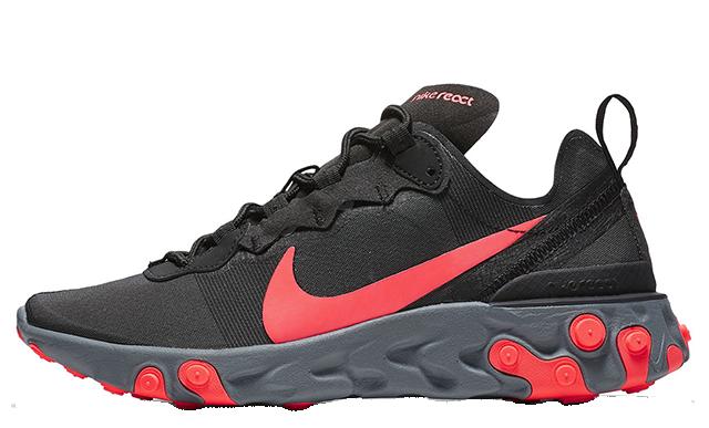 Nike React Element 55 Black Red