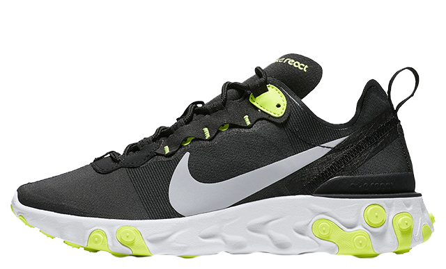 100% authentic low cost 100% authentic Nike React Element 55 Black Volt