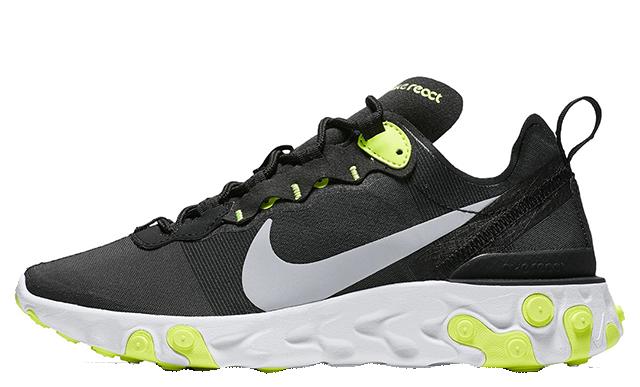 Nike React Element 55 Black Volt