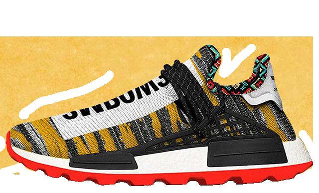 Pharrell x adidas Afro NMD Hu Pack Black Multi   BB9527
