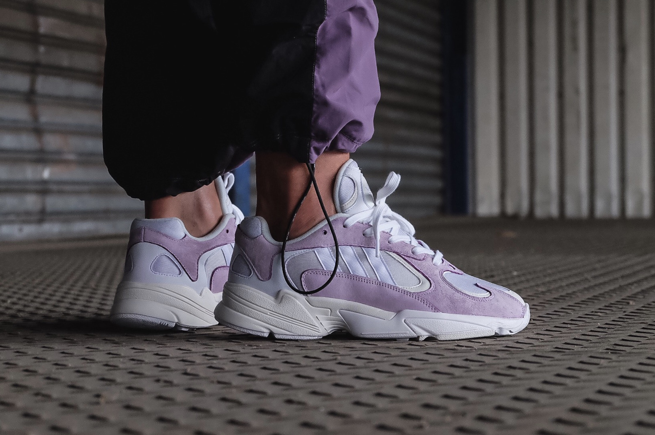 A Lavender And Grey Colourway Hits The adidas Yung-1