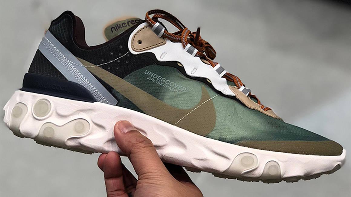 Undercover x Nike React Element Green Black 01 w1160