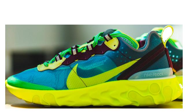 Undercover x Nike React Element 87 Blue Volt