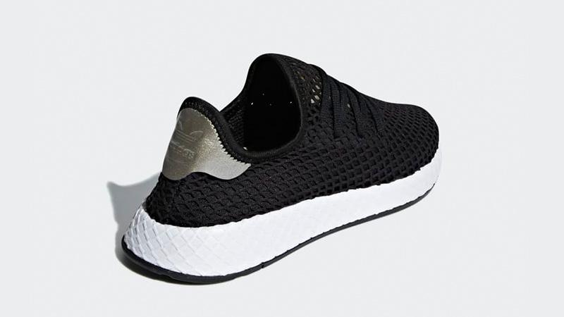adidas Deerupt Black White Womens   B37675
