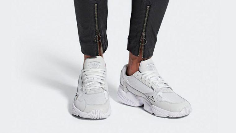 on sale 3365a d4d25 adidas Falcon Triple White B28128 04