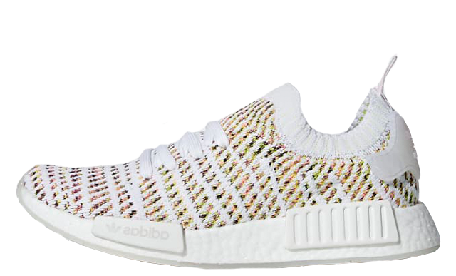 161b90080b9156 The adidas NMD R1 STLT Primeknit White Multi is available now from our list  of stockists on this page. Keep it locked to The Sole Womens for more  updates on ...