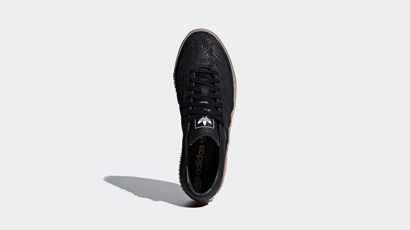 adidas sambarose black snakeskin