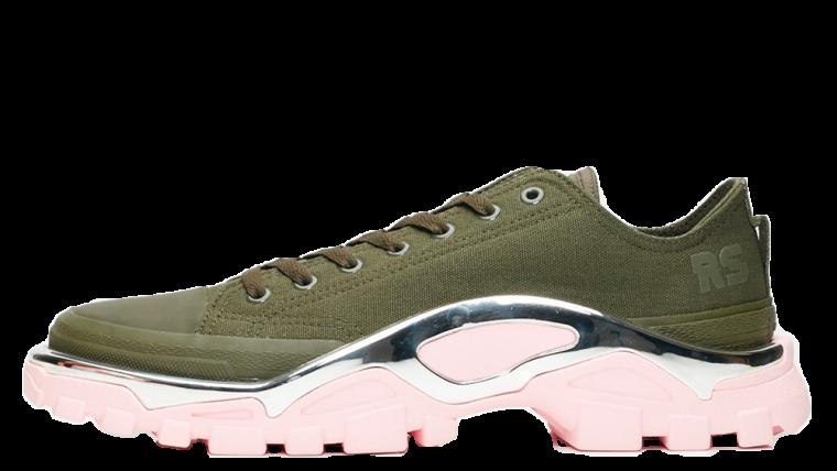 adidas x Raf Simons Detroit Runner RC Olive Pink