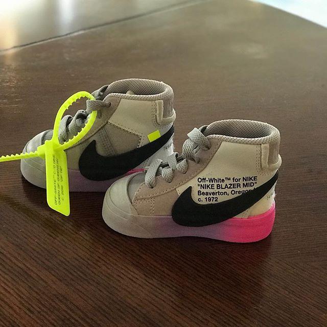 adba2c50ec596 Virgil Abloh Creates Baby Off-White x Nike Blazers For Serena ...