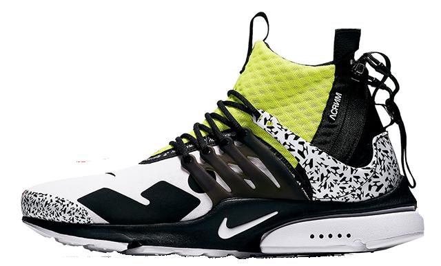 ACRONYM x Nike Air Presto Mid Dynamic Yellow | AH7832-100