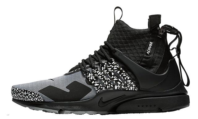 ACRONYM x Nike Air Presto Mid Grey Black | AH7832-001